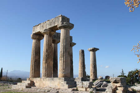 Cornithos의 유적, Peloponesse, 그리스에서 스톡 콘텐츠