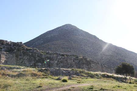 Mycenae, 그리스의 고고학 사이트의 사진 스톡 콘텐츠