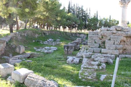 Ruin site of in Greece. Stok Fotoğraf