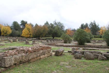 Ruin site of Olimpia, in Greece.