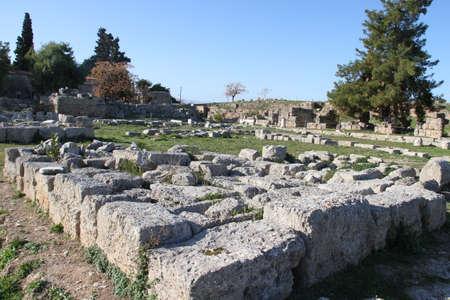 Ruins of Cornithos, in Peloponesse, Greece