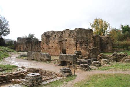Ruin site of in Greece. Фото со стока