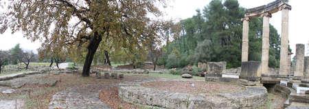 Olimpia, in Greece Фото со стока