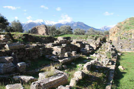 Ruins of Ancient Sparta in Greece Editorial