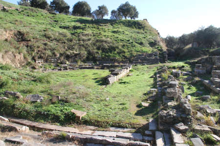 Ruins of Ancient Sparta in Greece Stock Photo