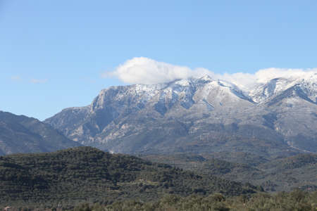 Mountains in Peloponesse, Sparta, Greece