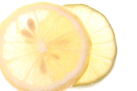 Close up shot  of lemon, lime and kiwi