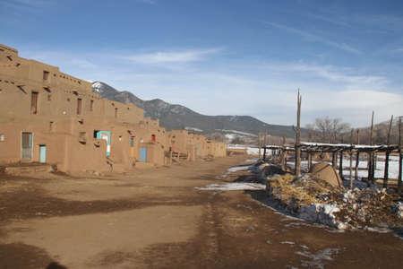1102019: Taos New Mexico: Pueblo in Taos Stock Photo