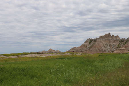 View of Badlands national park in South Dakota