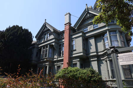 8-10-2021: San Francisco, California: Haas Lilenthal house, historic victorian house Zdjęcie Seryjne