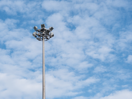 Street light in blue sky. Stock Photo