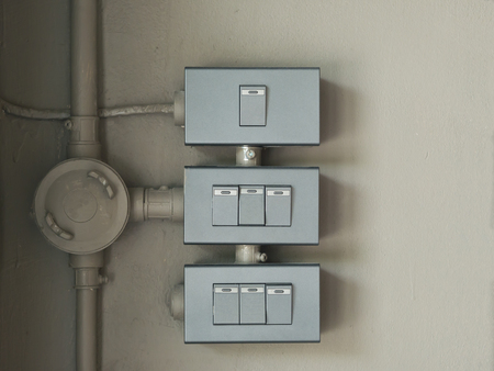 Switch box and electrical conduit.