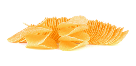 crisps: Crisps on white background