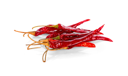 Dried chili isolated on white background