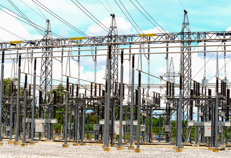 power cables: High voltage power substation