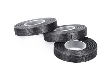 Rolls of Velcro tape Strips isolated on white background