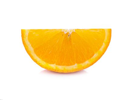 orange slice on white background Stock Photo