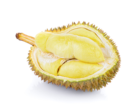 durian fruit isolated on white background Banco de Imagens