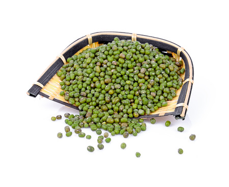Mung beans isolated on white background Stock Photo