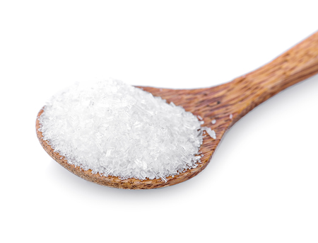Monosodium Glutamate in wooden spoon