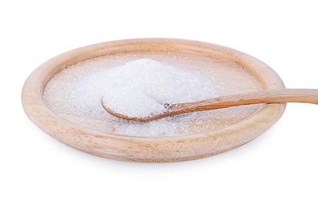 Monosodium Glutamate  on wooden spoon