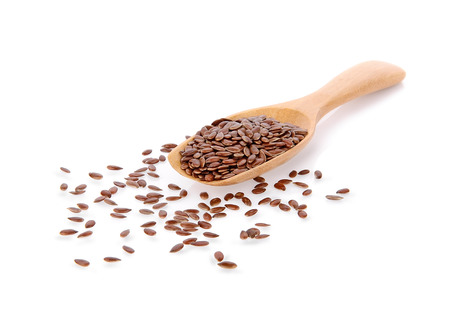 flax seed isolate on white background Stock fotó