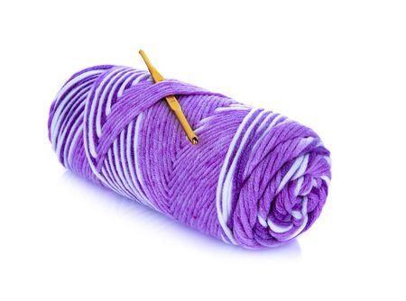 Ball of yarn on white background Stok Fotoğraf