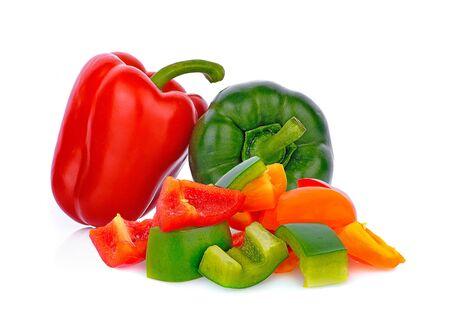 red ,green  pepper isolated on white background Reklamní fotografie