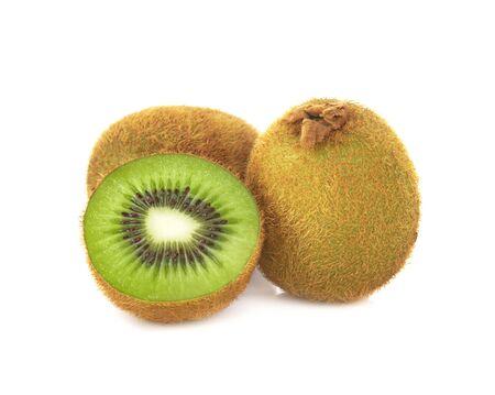 kiwi fruit slice  isolated on white background