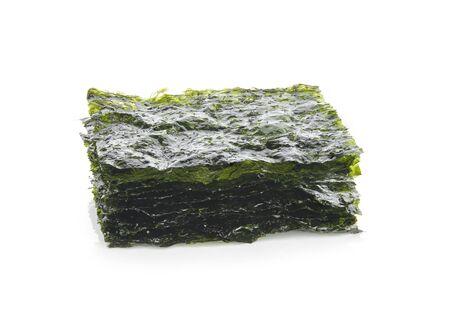 dry seaweed isolated on white background