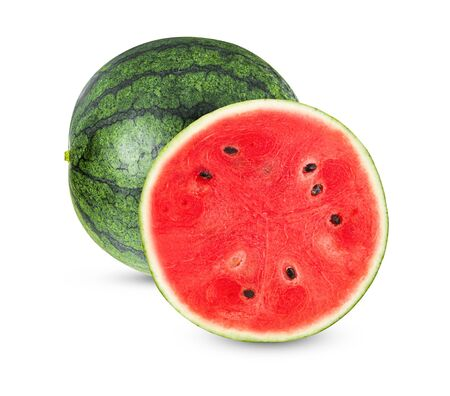 watermelon isolated on white background. Imagens