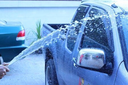 wash: car wash outdoors.