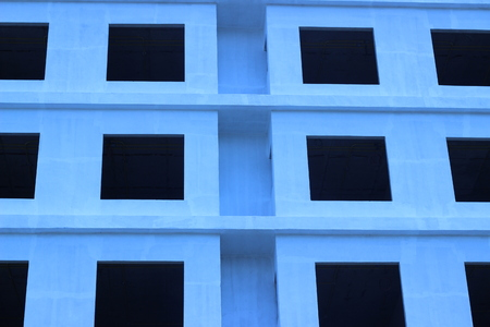 unfinished building: Unfinished building of reinforced concrete panels without windows