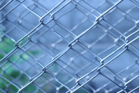 Chain link fence seamless nested beautifully Stock Photo