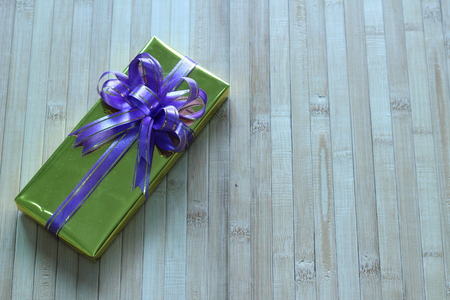 beautifully: Gift box of multi-colored ribbons arranged beautifully Stock Photo