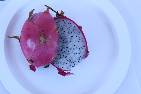 fruit eater: The red dragon fruits in white plate pretty appealing