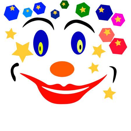 clown face: clown face Illustration