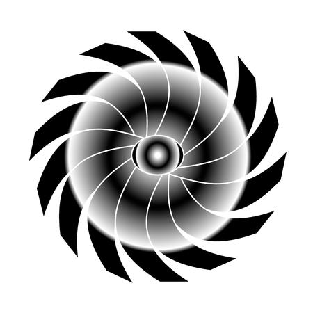 hallucinogen: black white rainbow Illustration