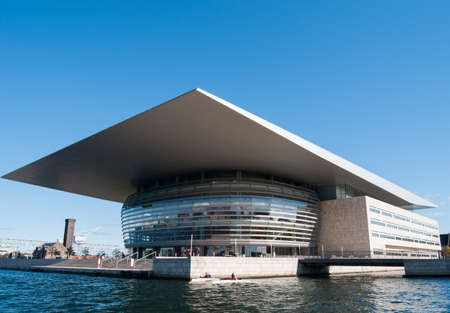 The opera house in Copenhagen, Denmark