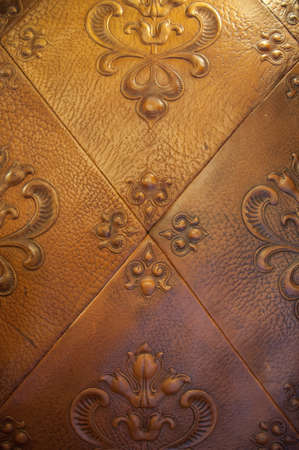 Decorative leather background