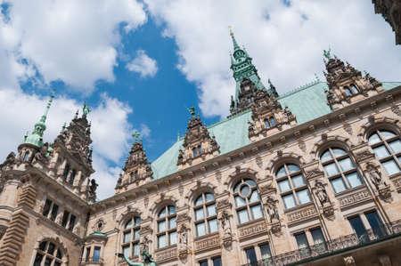 Hamburg Town-hall - Germany, Hamburg Stock Photo