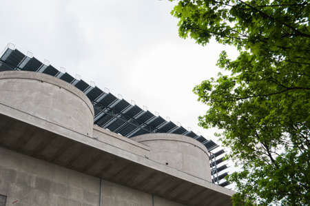 nonpolluting: Sustainable architecture Stock Photo