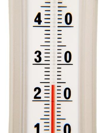 celcius: Temperature instrument, celcius degrees, with red alcohol Stock Photo