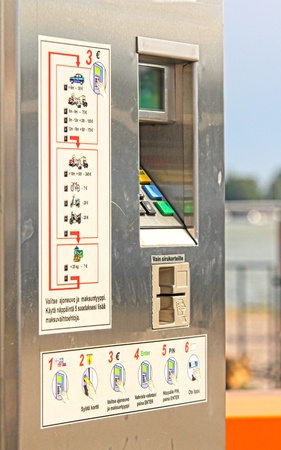 Ticket vending machine, commonly used for public transport