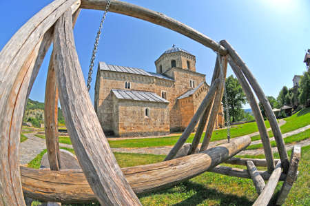 serbia: Studenica monastery in Serbia Stock Photo