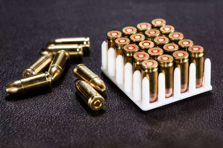 luger: Bullets Stock Photo
