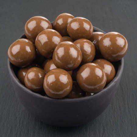 chocolate ball candies Stockfoto
