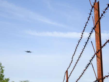 landing of aircraft Stock Photo