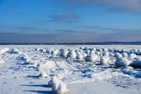 Frozen seashore of Baltic sea