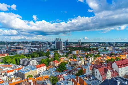 TALLINN, ESTONIA - 05.07.2017 Aerial View of Tallinn in a beautiful day Tallinn,Estonia Editorial